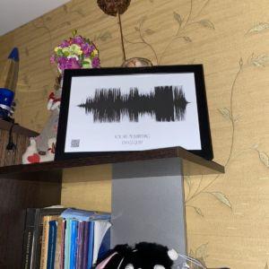 Картина голоса А4 в рамке
