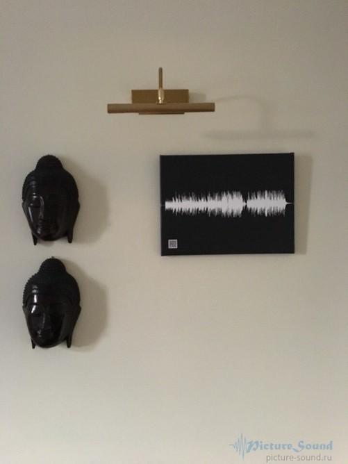 Картина голоса А4 на холсте с деревянным подрамником