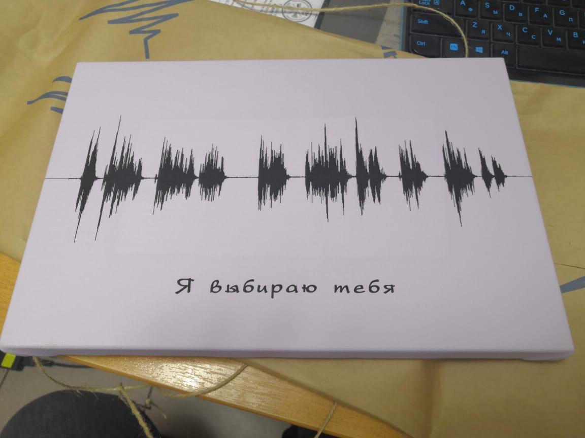 Картина голоса А3 на холсте с деревянным подрамником