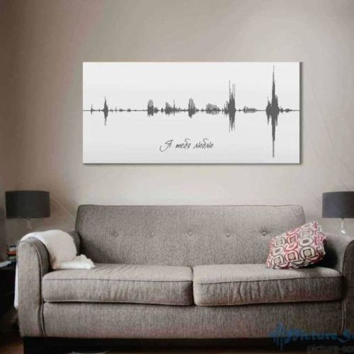 Двухметровая Картина голоса на холсте с деревянным подрамником