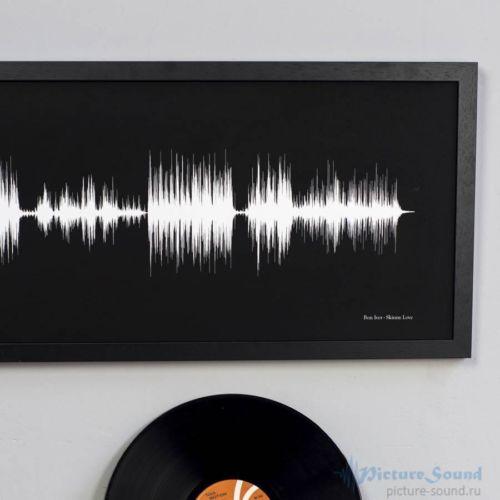 Широкая Картина голоса (метровая) в рамке