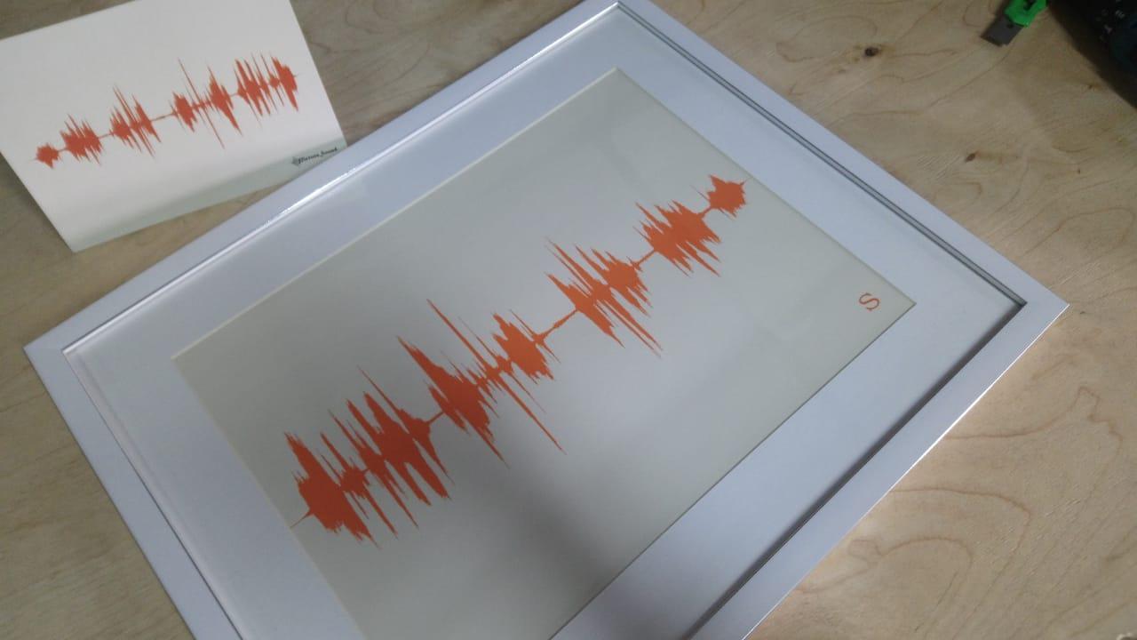 Картина голоса А4 в рамке с паспарту