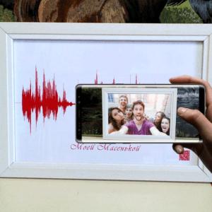 Картина голоса AR (видео внутри картины)