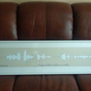 Метровая Картина голоса на фотобумаге в раме с паспарту