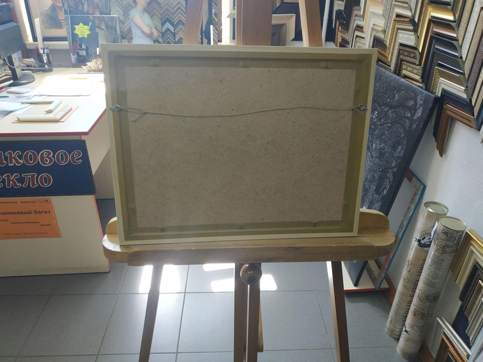 Картина голоса А3 в рамке с паспарту