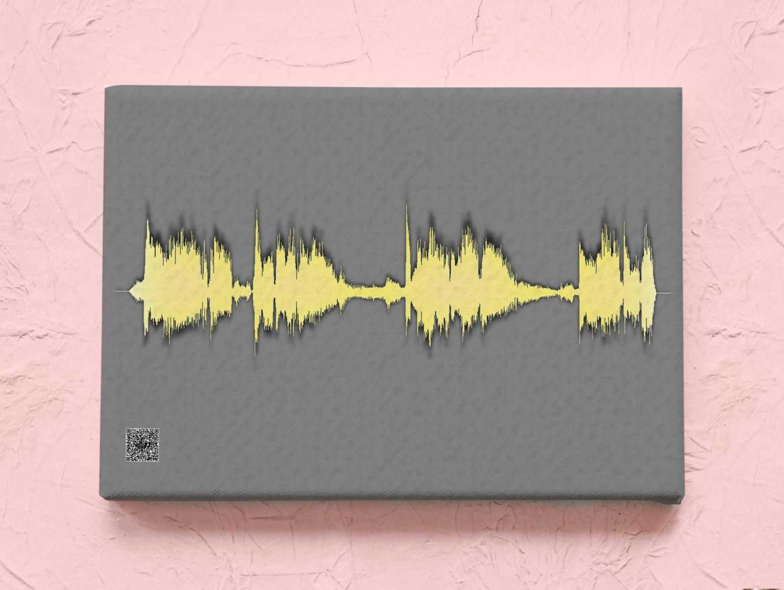 Картина голоса А2 на холсте с деревянным подрамником